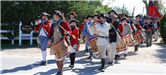 Revolutionary War Reenactors in Formation