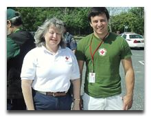 Red Cross staff at the expo