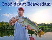 Man Showing His Catch at Beaverdam