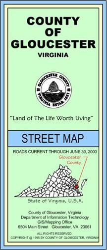 County of Gloucester Street Map Cover