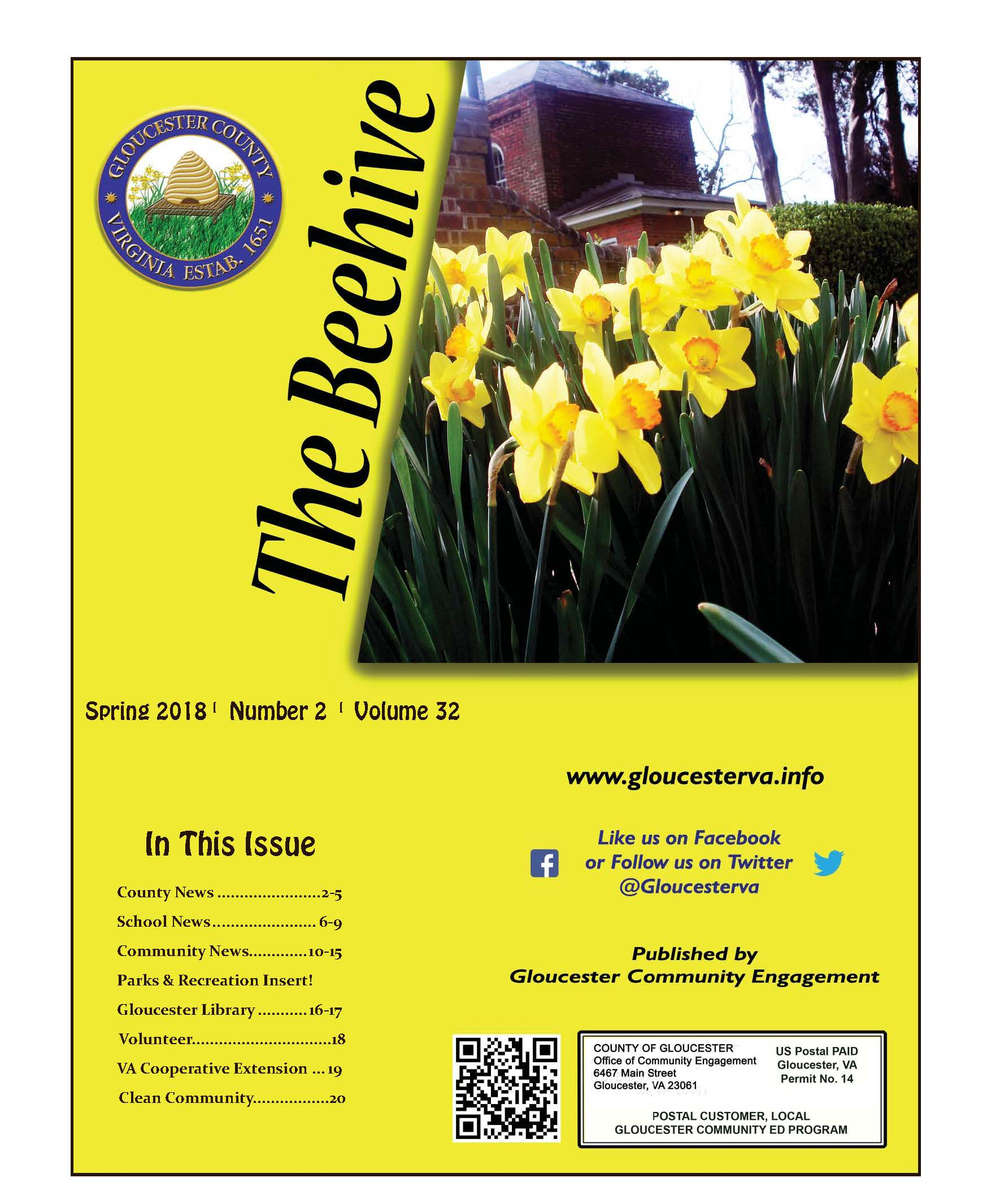 Beehive Spring 2018 cover with yellow flowers