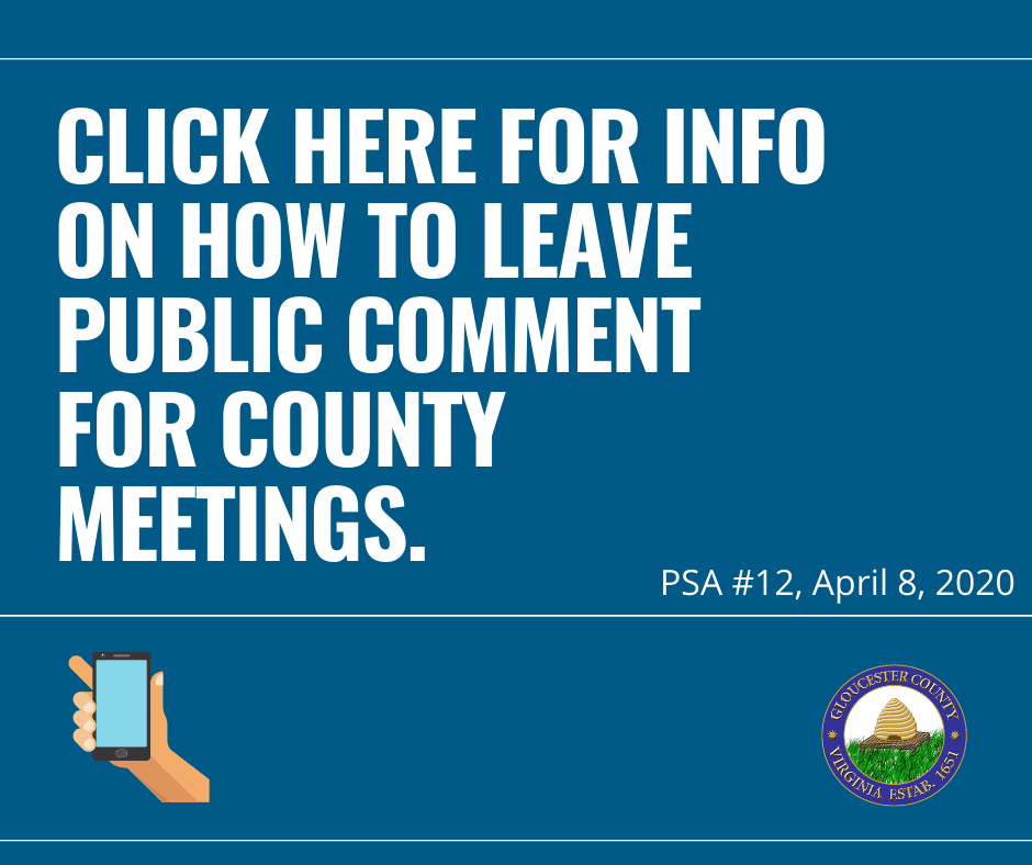 Public Comment Options