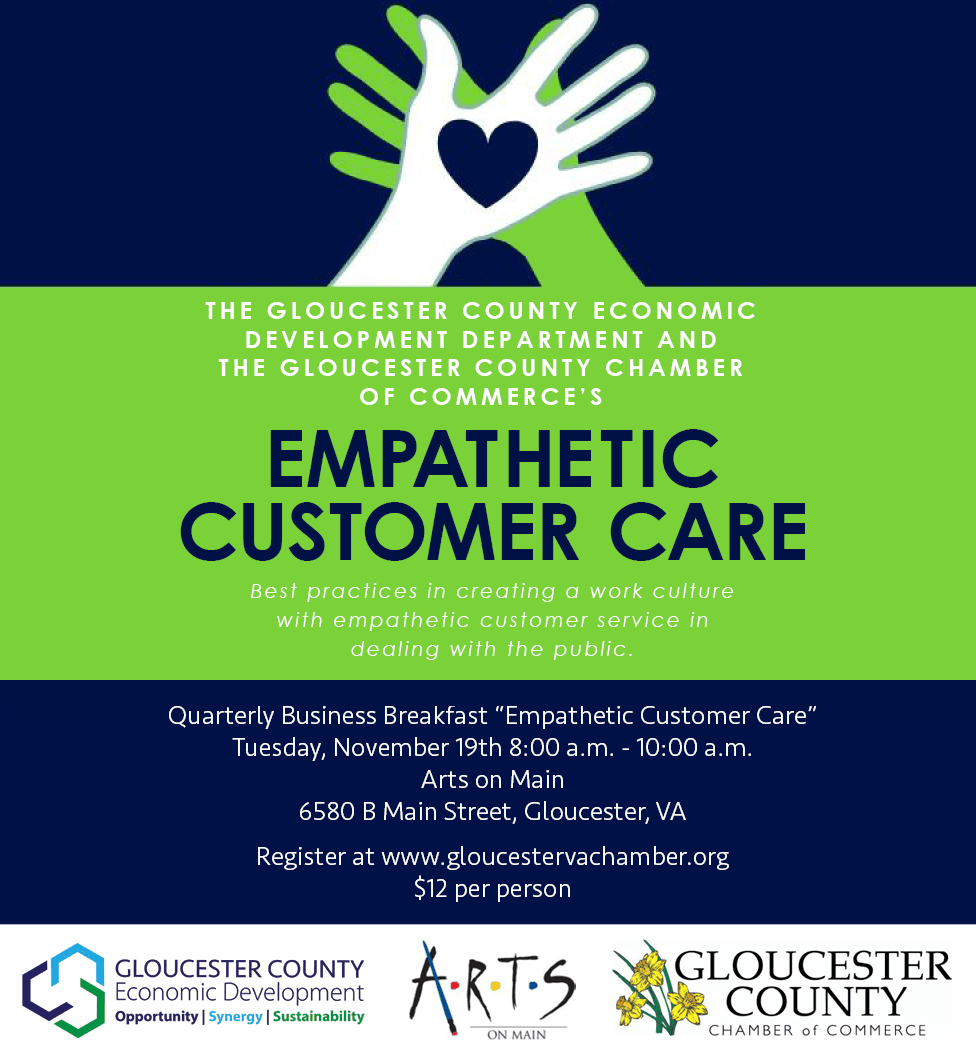 "Flyer for ""Empathetic Customer Care"""