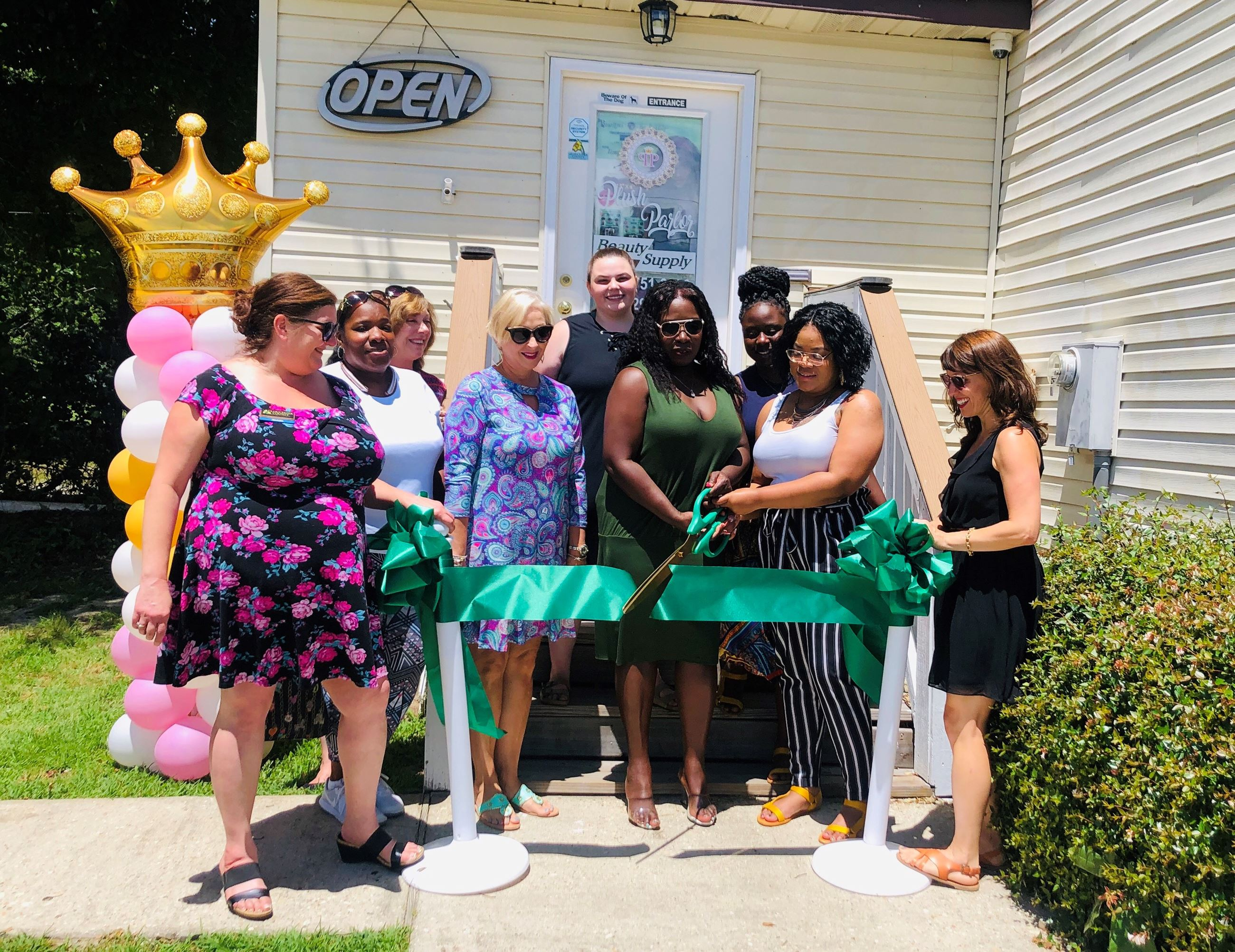 Plush Salon Ribbon Cutting