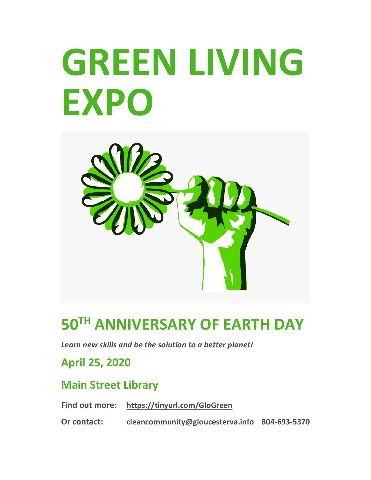 Green Living Expo 2020 flyer